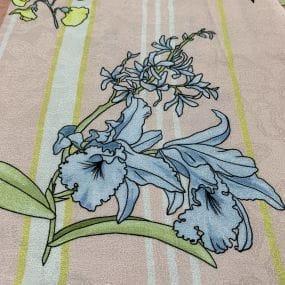 Tecido Viscose Estampada Jacquard Floral • Luema Tecidos