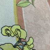 Sarja Estampado Floral Rosas Azul e Rosa Fundo Branco Algodão em Geral