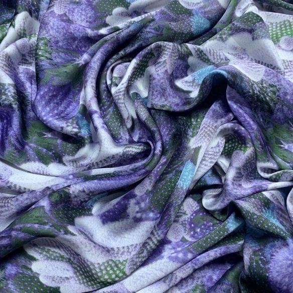 Cetim Toque de Seda Cactus Roxo • Luema Tecidos