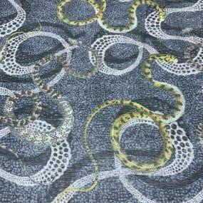 Tecido Musseline Estampado Ana Ruga Snakes • Luema Tecidos