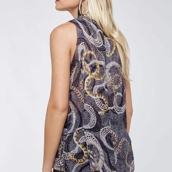 Musseline Estampado Ana Ruga Snakes • Luema Tecidos