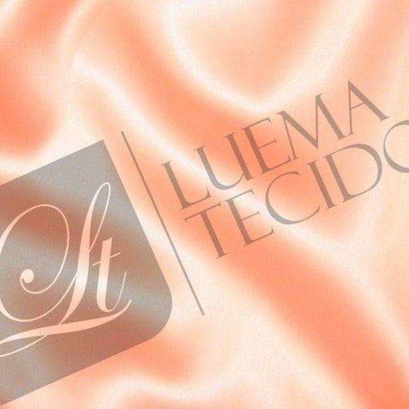 Tecido Cetim Charmeuse Liso Salmão • Luema Tecidos