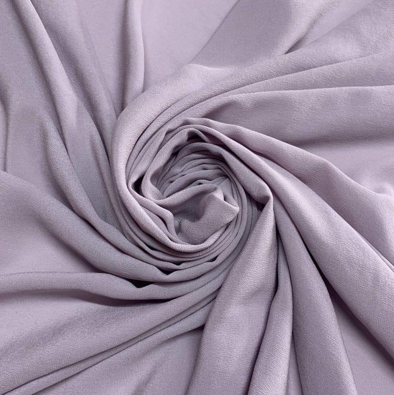 Crepe de Chine 100% Seda Liso Lavanda • Luema Tecidos
