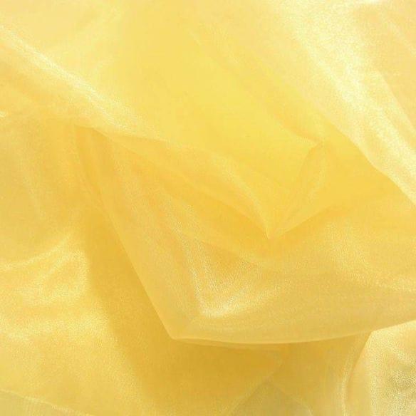 Tecido Organza Cristal Dourado • Luema Tecidos