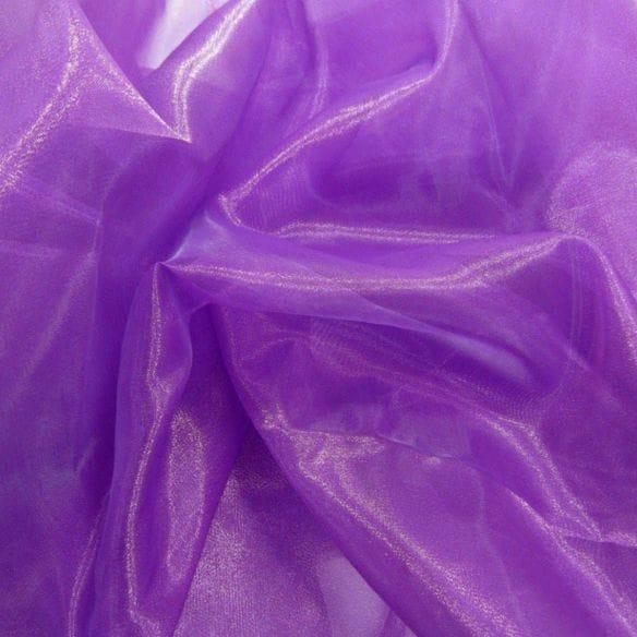 Tecido Organza Cristal Roxo • Luema Tecidos