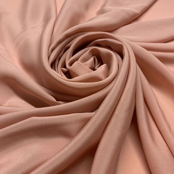 Crepe de Chine Seda Pura Liso Nude • Luema Tecidos