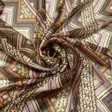 Tecido Viscose Estampada Listrado Abstrato • Luema Tecidos
