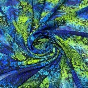 Tecido Viscose Estampada Floral e Flamingos • Luema Tecidos