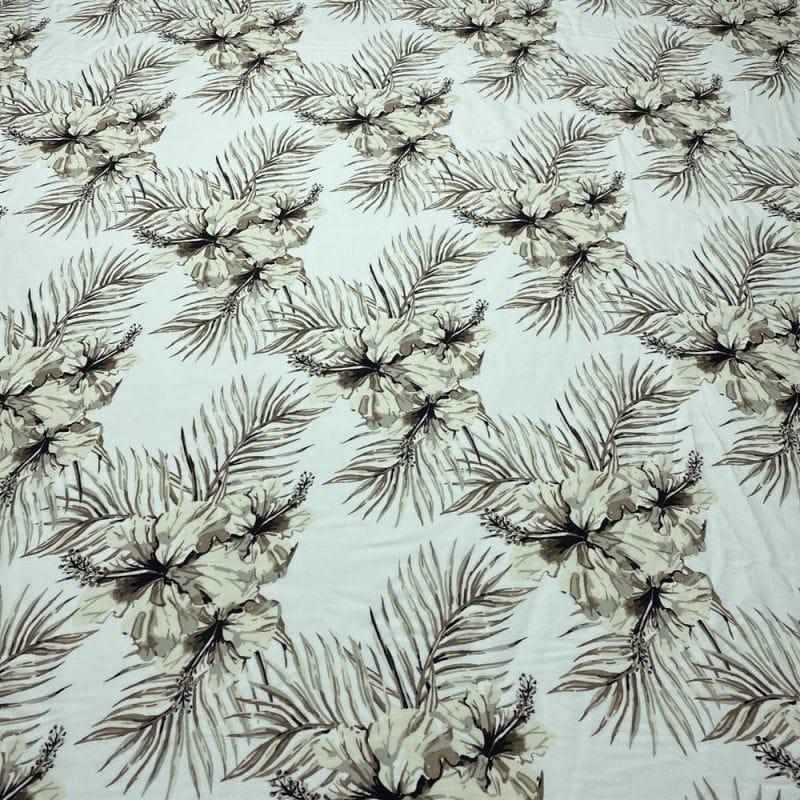 Tecido Crepe New Look Azulejo Preto Fundo Branco • Luema Tecidos