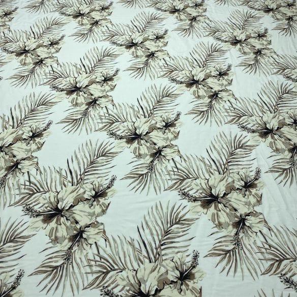 Crepe New Look Azulejo Preto Fundo Branco