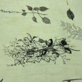 Tecido Cetim Toque de Seda Floral Fundo Azul • Luema Tecidos