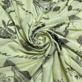 Tecido Cetim Toque de Seda Floral Fundo Vermelho • Luema Tecidos